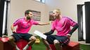 Alba et Mathieu, lors de leur face à face / FCB