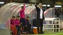 Jordi Vinyals, durante el partido / VÍCTOR SALGADO-FCB