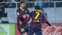 Leo Messi and Pedro were both on target at the Pizjuán last year / MIGUEl RUIZ - FCB