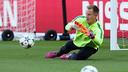 Ter Stegen, pendant l'entrainement / MIGUEL RUIZ-FCB.