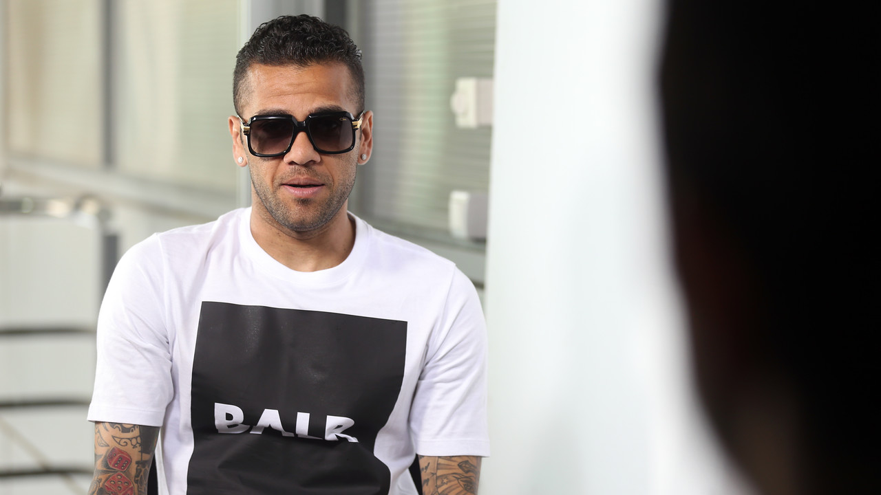 Dani Alves, en l'entrevista a fcbarcelona.cat