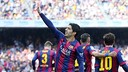 Luis Súarez scored the game-winning goal on Saturday — in the first minute of the match. / MIGUEL RUIZ