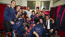 FC Barcelona roller hockey win their second straight league title on Saturday.