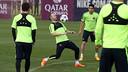 Iniesta during training on Monday / MIGUEL RUIZ-FCB