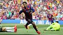 Suárez, lors d'un match au Camp Nou / MIGUEL RUIZ-FCB
