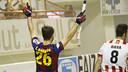 Xavi Barroso ha marcat dos gols a la final / VÍCTOR SALGADO - FCB