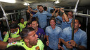 A party mood after being confirmed as the new Liga champions / MIGUEL RUIZ-FCB