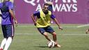 Xavi Hernández, en l'entrenament d'aquest dijous / MIGUEL RUIZ - FCB