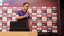 Xavi, eà la fin de la conférence de presse / MIGUEL RUIZ-FCB