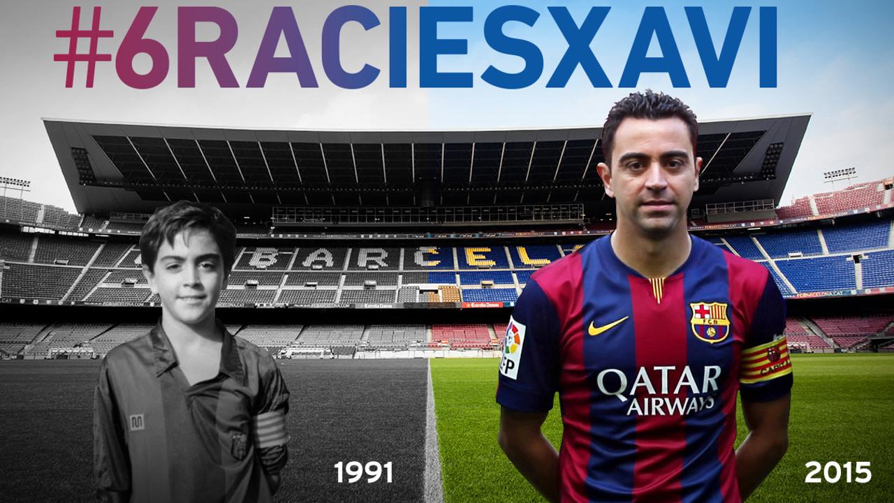 Xavi Hernández: Blaugrana en l'etapa 1991-2015