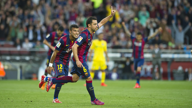Xavi is going to be the focus of attention in his final league match for FC Barcelona. / MIGUEL RUIZ-FCB