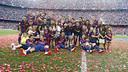 The first team celebrate the Liga 2014/15 title / MIGUEL RUIZ-FCB