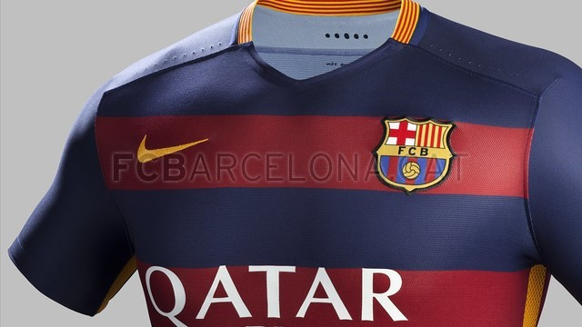 The details of the new Barça shirt for the 2015/16 season. / NIKE