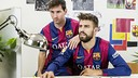 Messi and Piqué designing their Maurice Lacroix watches/ MAURICE LACROIX