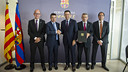 Signing of the agreement with the World Barça Supporters Clubs Confederation