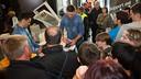 Lazarov and Rutenka signing autographs in last season's Final Four  / GERMÁN PARGA-ARXIU FCB