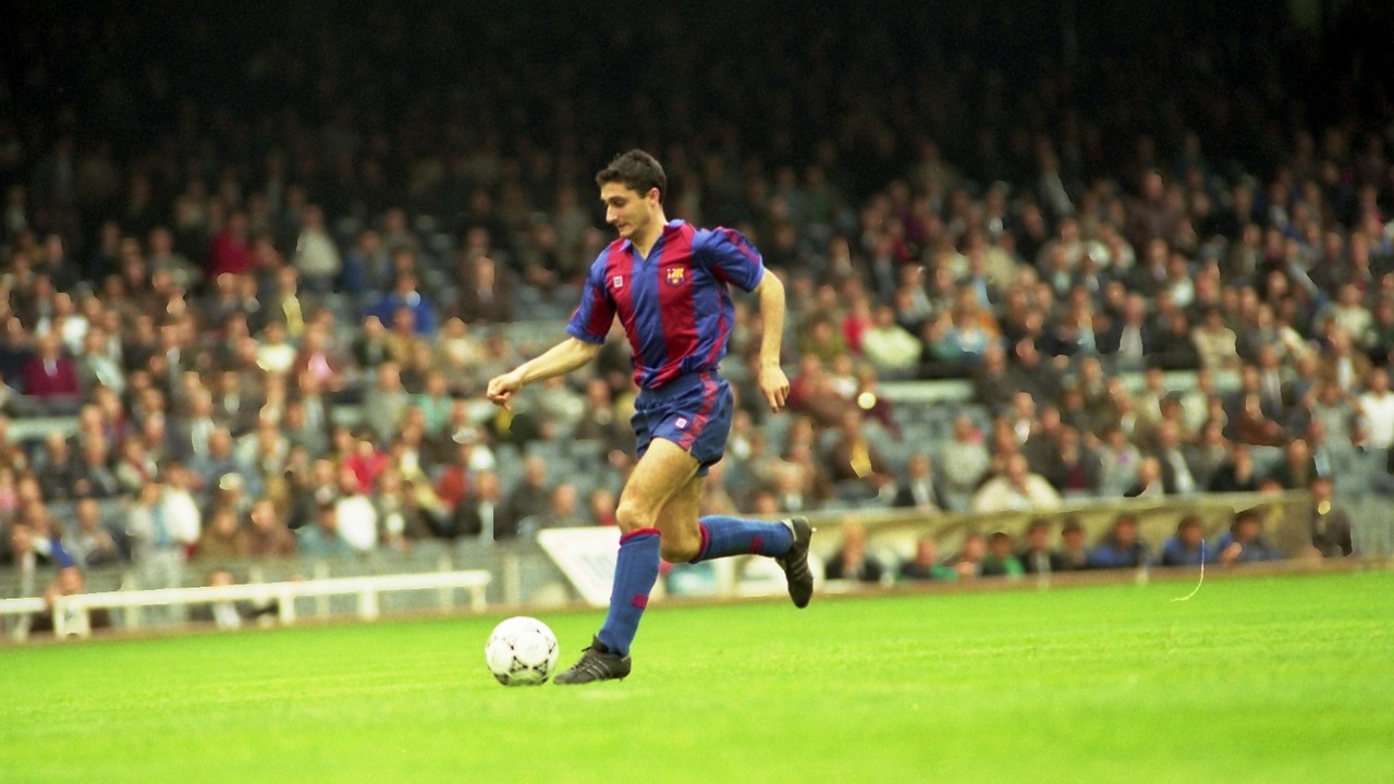 Valverde during a game with FC Barcelona in the later 80 / FCB
