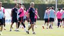 Jordi Vinyals, durante el entrenamiento de este viernes / MIGUEL RUIZ-FCB