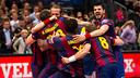 L'alegria dels blaugranes un cop guanyada la novena Champions / FOTO:ARXIU-GERMAN PARGA