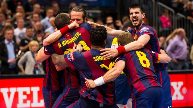 L'alegria dels blaugranes un cop guanyada la novena Champions / FOTO: ARXIU-GERMÁN PARGA