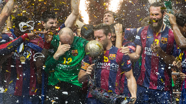 The Handball team won the section's 9th European Cup in Cologne/ GERMÁN PARGA - FCB