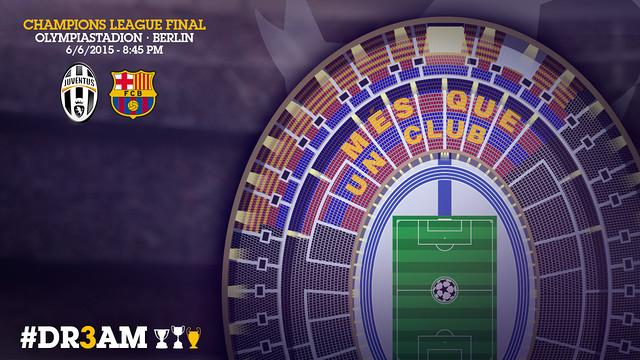 Así será el mosaico del FC Barcelona en la final de la Champions League