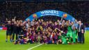 Le FC Barcelone fête le titre en Ligue des Champions à Berlin / GERMÁN PARGA - FCB