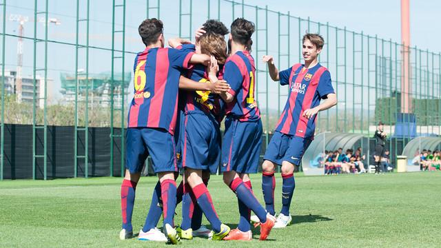 Les Cadets A du Barça, lors d'un match / ALEIX TELLO