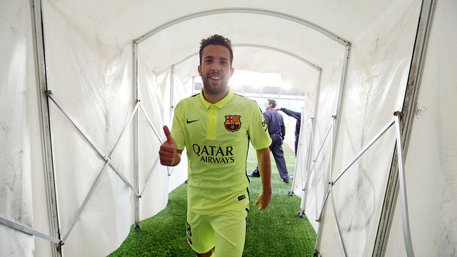 Jordi Alba is attending a football clinic in the north of Japan / MIGUEL RUIZ-FCB