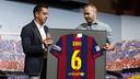 Xavi et Iniesta, le jour du départ / MIGUEL RUIZ-FCB