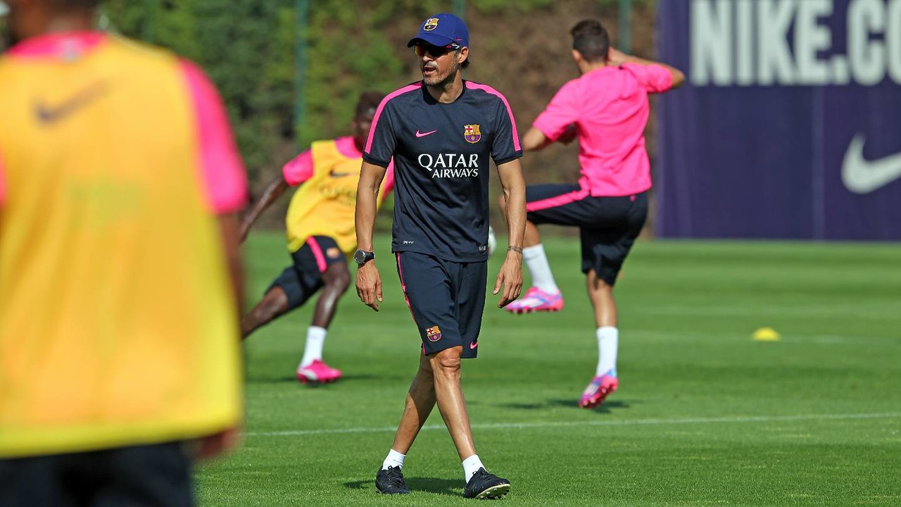 Luis Enrique will be embarking on his second preseason with Barça. / MIGUEL RUIZ-FCB