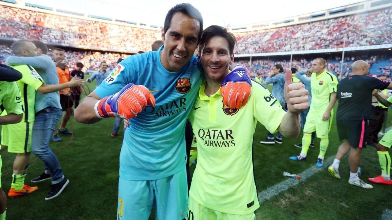 Bravo i Messi, al Calderón / MIGUEL RUIZ-FCB