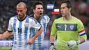 Claudio Bravo faces Messi and Mascherano in the Copa America final / FCB