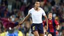 Rivaldo, celebra el gol de la victoria ante el Valencia / ARCHIVO FCB