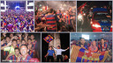 Fans around the world celebrating Barça's latest Champions League win / Photomontage FCB