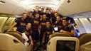 La plantilla del Barça, de camí cap a Los Ángeles / MIGUEL RUIZ - FCB