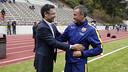 Bartomeu et Luis Enrique avant l'entrainement / MIGUEL RUIZ - FCB