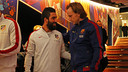 Arda Turan and Ivan Rakitic will be opponents once again  / MIGUEL RUIZ-FCB