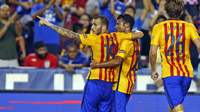 Sandro scored the second for Barça / MIGUEL RUIZ - FCB