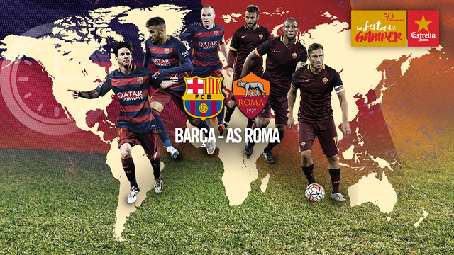 Barça and Roma meet in the first game of the season at the Camp Nou / FCB