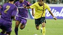 Dani Alves in action against Fiorentina in the summer of 2008 / FCB - Archive