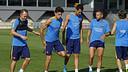 Les joueurs se sont entraînés avant de se rendre à Florence/ MIGUEL RUIZ - FCB