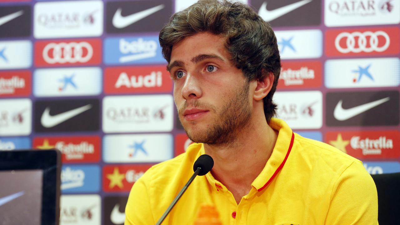 Sergi Roberto, a la roda de premsa / MIGUEL RUIZ-FCB