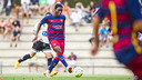 Dongou scored the first goal of the game on Saturday and now has three on the preseason. / VICTOR SALGADO-FCB