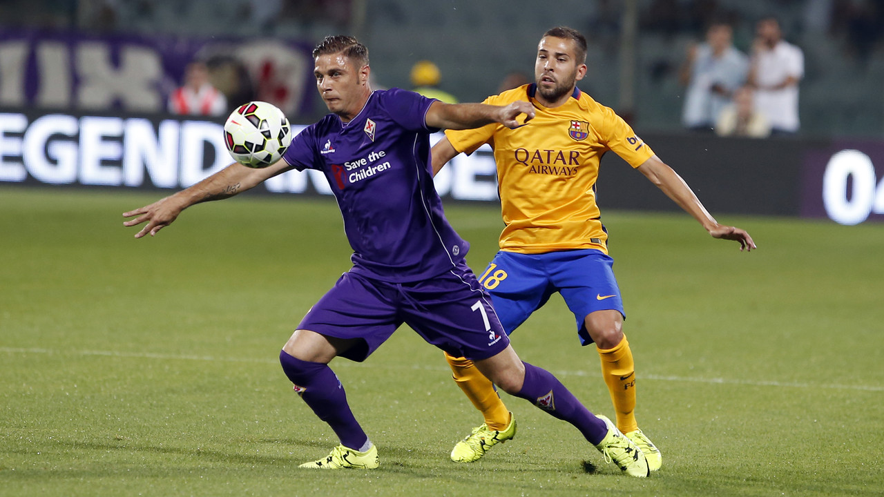 Jordi Alba and Joaquín during the game against Fiore / MIGUEL RUIZ - FCB