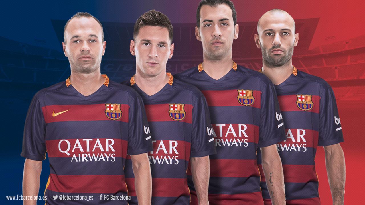 Iniesta, Messi, Sergio y Mascherano / FCB