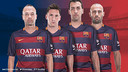 Iniesta, Messi, Sergio and Mascherano, the four captains / FCB