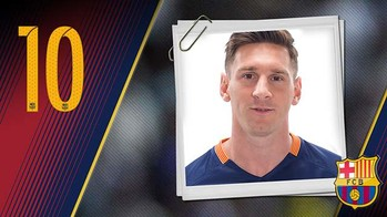 Portrait Lionel Andrés Messi. Number 10