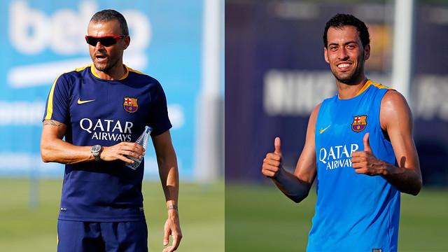Luis Enrique and Sergio Busquets / FCB