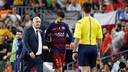 Gerard Piqué, après son expulsion / MIGUEL RUIZ-FCB